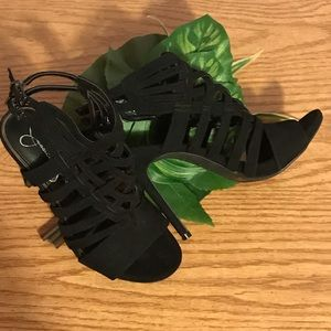 Jessica Simpson Shoes - JESSICA SIMPSON Black Suede Strappy Sandals